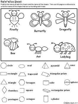 A+ Insects and Math Shapes