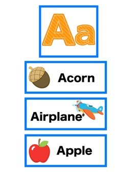 A Is For Apple Alphabet Match Up