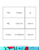 A Is for Azure: Sentence Builder Cards
