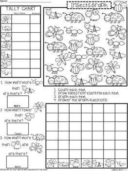 A+ Insects: Count, Tally, Graph, and Compare