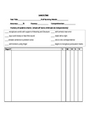 A-J leveled running record recording sheets