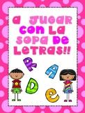 A JUGAR CON LA SOPA DE LETRAS!!