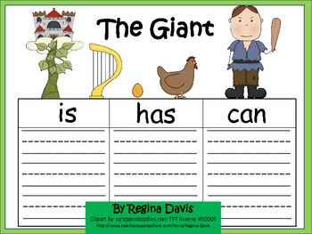 A+ Jack And The Beanstalk: Graphic Organizers For The Giant