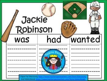 A+  Jackie Robinson... Three Graphic Organizers