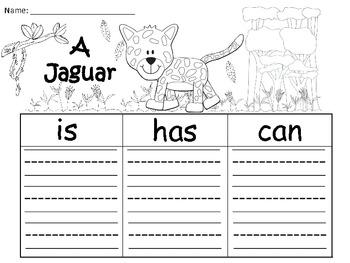 A+  Jaguar... Three Graphic Organizers
