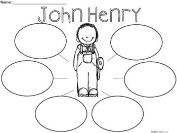 A+ John Henry... Three Graphic Organizers