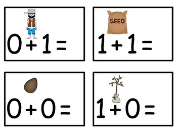 A+  Johnny Appleseed: Addition & Subtraction Fluency Practice Cards # 0-5