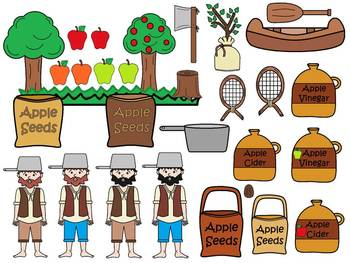 A+ Johnny Appleseed: Commercial Clip Art