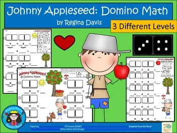 A+ Addition Johnny Appleseed: Domino Math