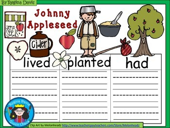 A+  Johnny Appleseed II... Three Graphic Organizers