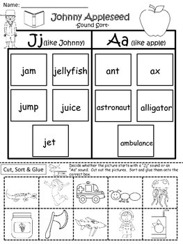 A+ Johnny Appleseed: Sound Sort