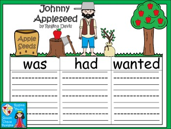 A+  Johnny Appleseed ... Three Graphic Organizers