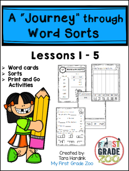 """A """"Journey"""" Through Word Sorts: Lessons 1-5"""