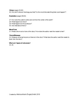 A Journey to the Center of the Earth Graphic Novel Guided Reading Questions