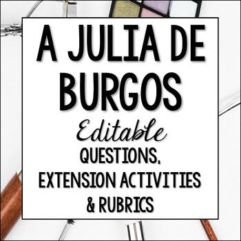 A Julia de Burgos Questions and Extension Activity - Poesi