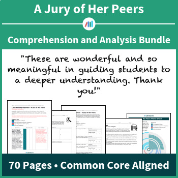 A Jury Of Her Peers Comprehension And Analysis Bundle By Litcharts