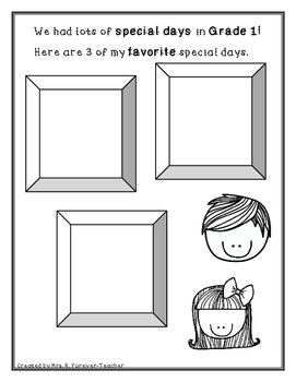 A Keepsake Booklet for Grade One and Two
