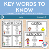 Word Problems Key Words to Know