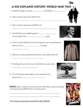 A Kid Explains World War 2