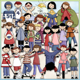 A Kid's Day Clip Art - Kids Clip Art - Sports - Hobbies - Play -CU ClipArt & B&W