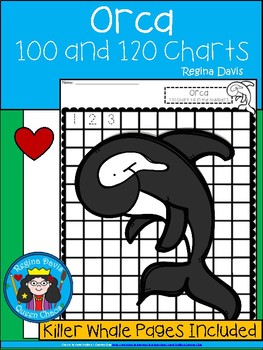 A+ Killer Whale or Orca: Numbers 100 and 120 Chart