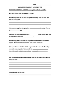 A Knight in Shining Armour - Video Worksheet