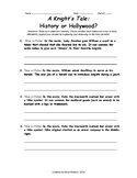 A Knight's Tale: History or Hollywood Movie Activity