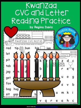 A+ Kwanzaa: CVC Words And Letter Reading Practice