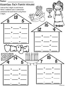 A+ Kwanzaa: Fact Family Houses