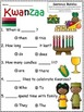 A+ Kwanzaa: Fill In the Blank.Multiple Choice Sight Word S