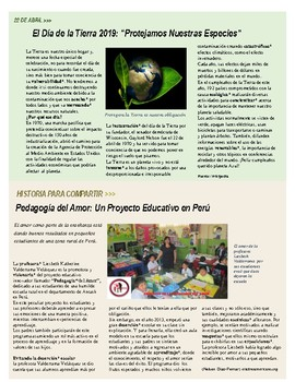 A LEER PRONTO: MONTHLY INFORMATIVE NEWSLETTER IN SPANISH (3rd edition)