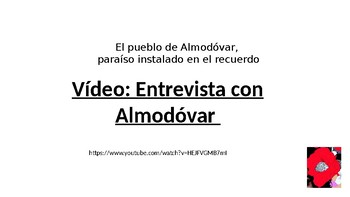 A LEVEL Spanish ALMODOVAR