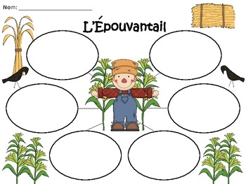 A+ L'Epouvantail: French Graphic Organizers