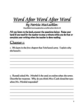 A LISTEN-AND-RESPOND Packet for Word After Word After Word
