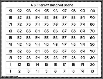 Hundred Chart Activities Freebie