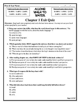 A LONG WALK TO WATER Comprehension/Vocabulary/Assessment Novel Study CCSS Unit