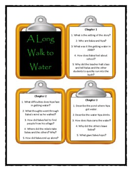 A LONG WALK TO WATER by Linda Sue Park - Discussion Cards