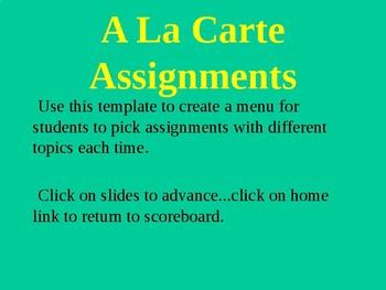 A La Carte Assignments