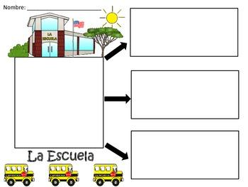 A+ La Escuela...Three Spanish Graphic Organizers