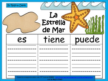 A+ La Estrella de Mar...Three Spanish Graphic Organizers