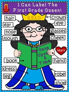 A+ Labeling Poster: I Can Label The First Grade Queen!