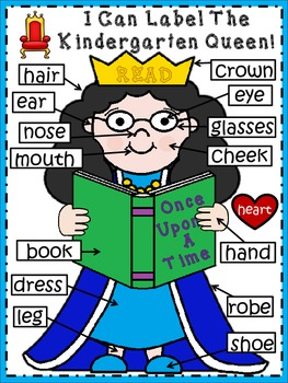 A+ Labeling Poster: I Can Label The Kindergarten Queen!