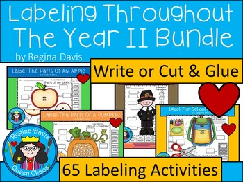 A+  Labeling Throughout The Year II: Bundle Pack