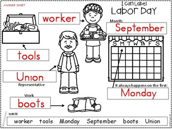 A+ Labor Day Labels