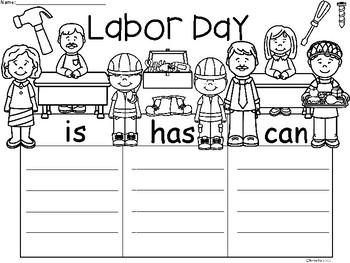 A+ Labor Day ...Three Graphic Organizers