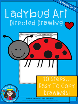 A+ Ladybug Art: Directed Drawing