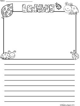 A+ Ladybug ... Writing Paper