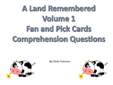 A Land Remembered Fan and Pick Comprehension Questions