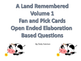 A Land Remembered Volume 1 Fan and Pick Card Set