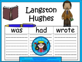 A+ Langston Hughes... Three Graphic Organizers